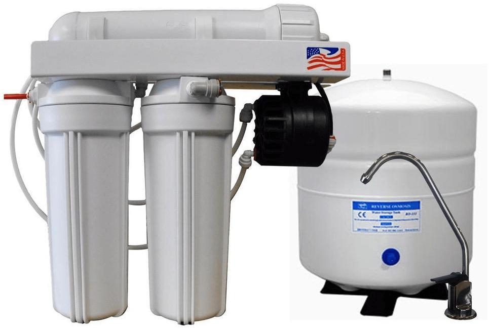 equipo de ósmosis inversa con bomba de presión de agua