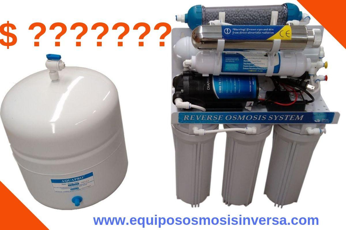 Cuánto cuesta un sistema de ósmosis inversa? Comparativa de precios