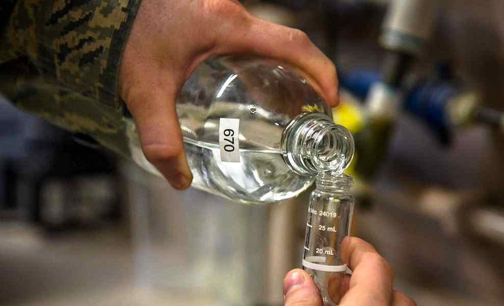 prueba de flúor en agua